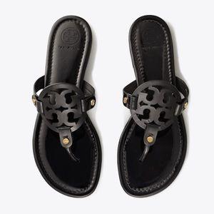 Tory Burch Size 7.5 Black Miller Sandal